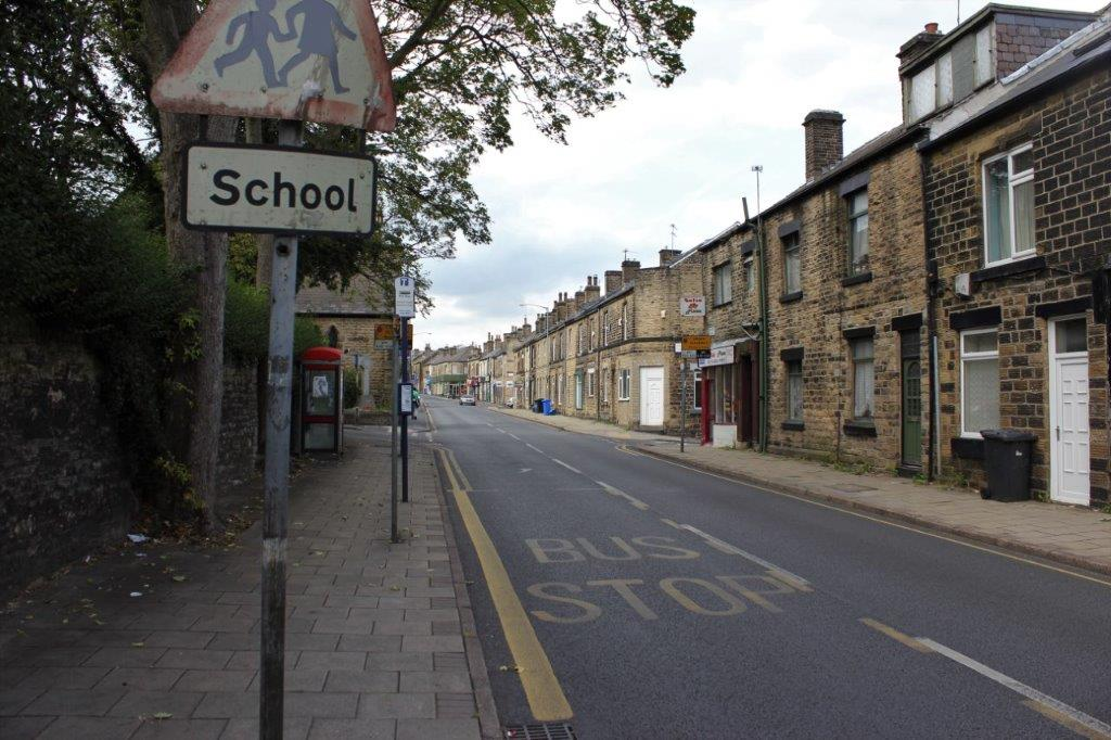 Street in Sheffield England UK