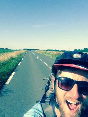 selfie bike trip
