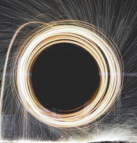 lights circle spinning
