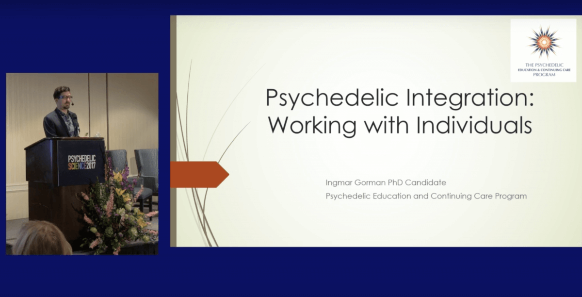 Ingmar Gorman psychedelic integration science conference