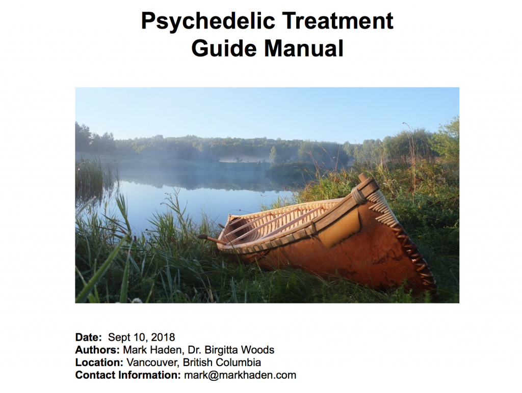 psychedelic treatment guide mark Haden manual draft cover