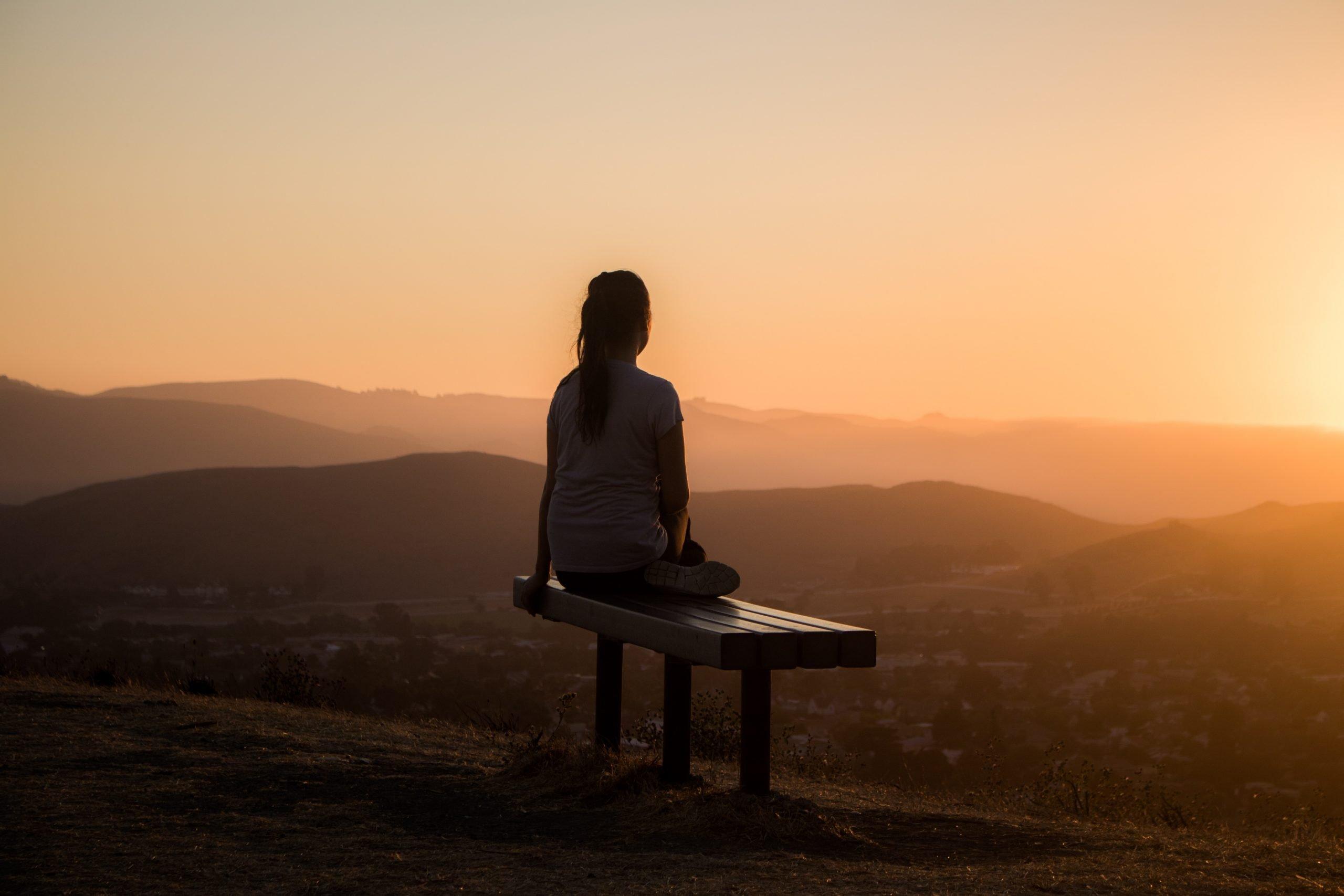 person nature contemplative